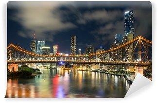 Vinylová Fototapeta Brisbane v noci