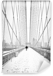 Vinylová Fototapeta Brooklyn Bridge - bianco e nero