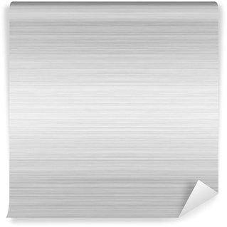 Vinylová Fototapeta Broušený hliník stříbrný lesklý deska