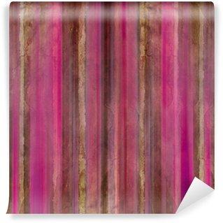 Vinylová Fototapeta Brown a růžové pruhy akvarel mytí