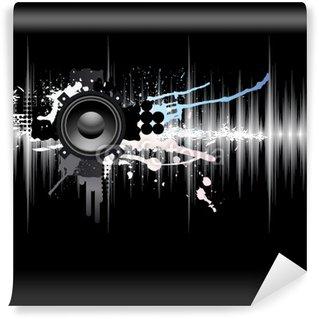 Vinylová Fototapeta Bstract šablony zvuková vlna a reproduktoru.