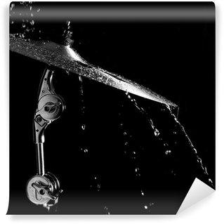 Vinylová Fototapeta Bubny deska pod kapkami vody