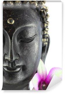 Vinylová Fototapeta Buddha na bílém orchidej květ