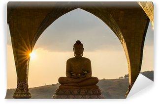 Vinylová Fototapeta Buddha na slunci nastaveném čase