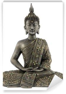 Vinylová Fototapeta Buddha socha na bílém