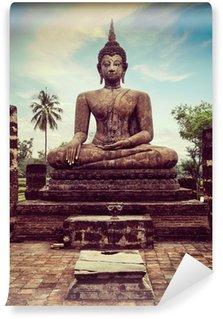 Vinylová Fototapeta Buddha socha ruka zblízka detail