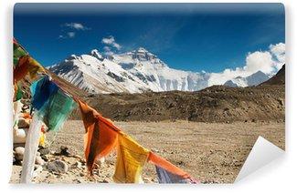Vinylová Fototapeta Buddhistické modlitební praporky a na Mount Everest