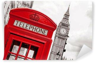 Fototapeta Vinylowa Budka telefoniczna. Londyn, Wielka Brytania