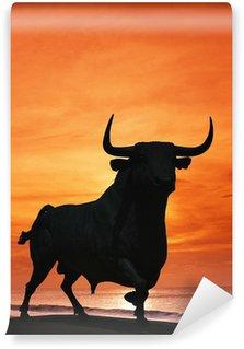 Vinylová Fototapeta Bull socha před západem slunce, Španělsko © Arena Photo UK
