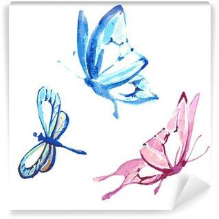 Fototapeta Vinylowa Butterfly, akwarela projektowania