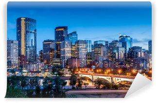 Vinylová Fototapeta Calgary panorama v noci