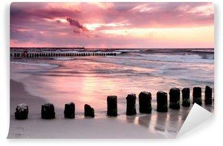 Vinylová Fototapeta Calmness.Beautiful západ slunce na Baltském moři.