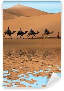 Vinylová Fototapeta Camel Caravan v saharské poušti