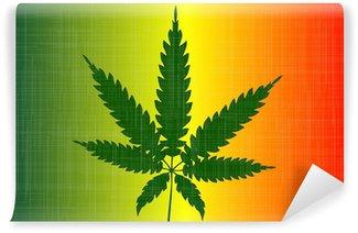 Vinylová Fototapeta Cannabis vlajka