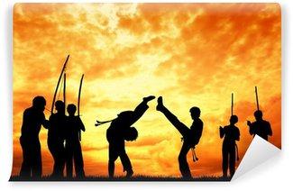 Vinylová Fototapeta Capoeira při západu slunce