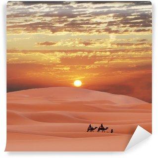 Vinylová Fototapeta Caravan v saharské poušti