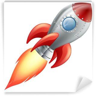 Vinylová Fototapeta Cartoon raketa vesmírná loď