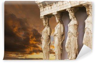 Vinylová Fototapeta Caryatids v Erechtheum z athénské Akropole, Řecko