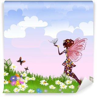 Vinylová Fototapeta Celestial Fairy na květinové louky