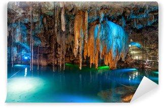 Vinylová Fototapeta Cenote Dzitnup poblíž Valladolid, Mexiko