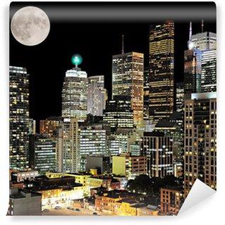 Vinylová Fototapeta Centrum Toronto. Noční výhled na město.