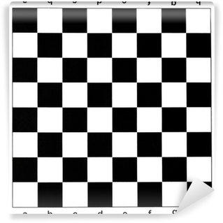 Vinylová Fototapeta Černá a bílá šachovnice