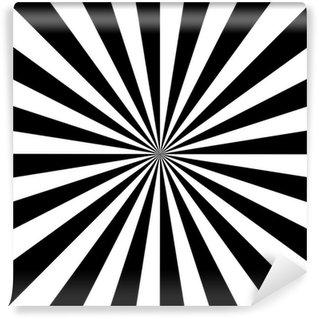 Vinylová Fototapeta Černá a bílá točit abstraktní