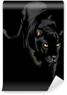 Vinylová Fototapeta Černá panther noci