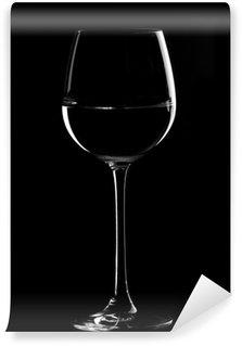 Vinylová Fototapeta Černá sklenice na víno