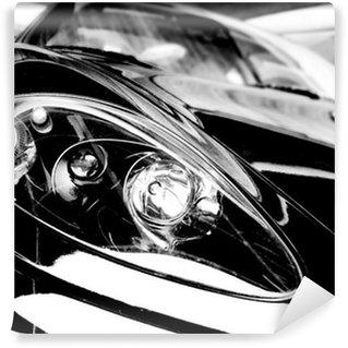 Vinylová Fototapeta Černá sportovní vůz