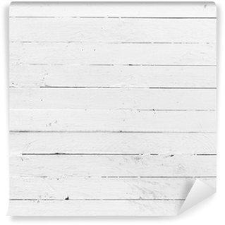 Vinylová Fototapeta Černé a bílé pozadí zvětralých malované dřevěné prkénko