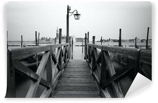 Vinylová Fototapeta Černobílá fotografie Venice nábřeží