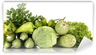 Vinylová Fototapeta Čerstvá zelenina izolovaných na bílém