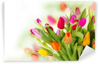 Vinylová Fototapeta Čerstvé tulipány kytice