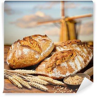 Vinylová Fototapeta Čerstvě upečený tradiční chléb