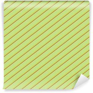 Vinylová Fototapeta Červená a bílá diagonální úzký proužek na zeleném pozadí