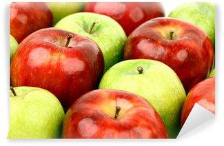 Vinylová Fototapeta Červená a zelená jablka