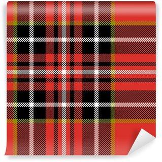 Vinylová Fototapeta Červená černá a bílá tkanina tartan bezešvé vzor, vektor