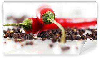 Vinylová Fototapeta Červená chilli papričkou