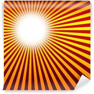 Vinylová Fototapeta Červená Oranžová Žlutá záření na pozadí