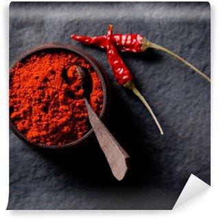 Vinylová Fototapeta Červená paprika koření na kamenné pozadí