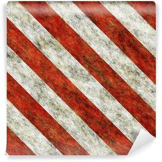 Vinylová Fototapeta Červené a bílé šikmé pruhy nebezpečí bezešvé textury