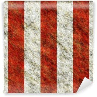 Vinylová Fototapeta Červené a bílé svislé pruhy nebezpečí bezešvé textury