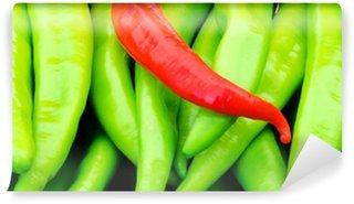 Vinylová Fototapeta Červené a zelené papriky