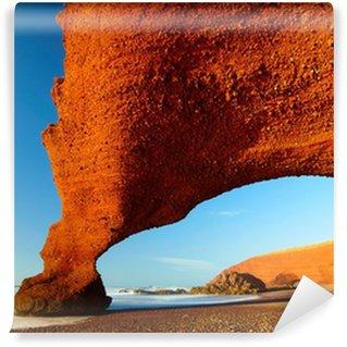 Vinylová Fototapeta Červené oblouky na atlantském pobřeží oceánu. Maroko
