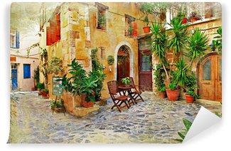 Vinylová Fototapeta Chania, Crete-staré půvabné ulice
