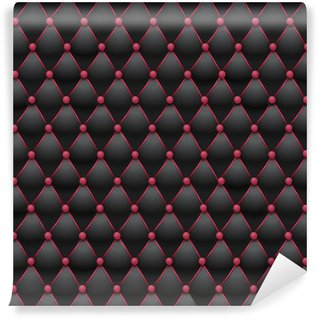 Vinylová Fototapeta Chesterfield - černé a růžové čalounění