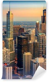 Vinylová Fototapeta Chicago Dusk