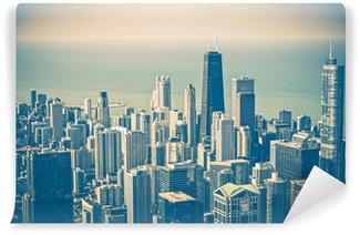 Vinylová Fototapeta Chicago Skyline Aerial