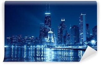 Vinylová Fototapeta Chicago Skyline at Night